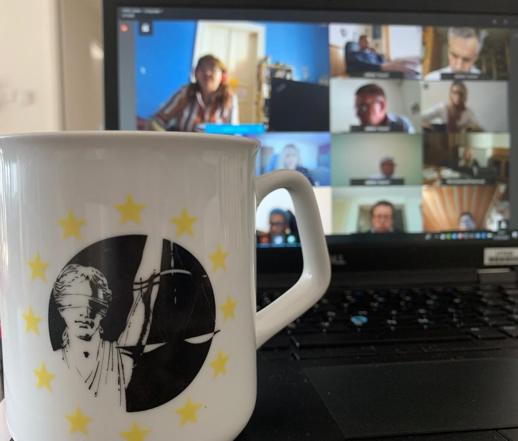 The EJN holds a videoconference meeting ...